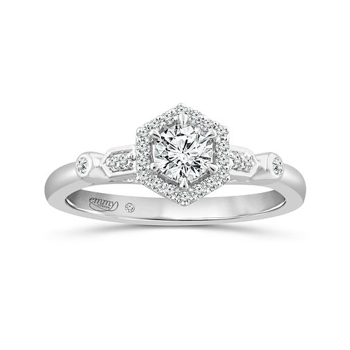 Emmy London Platinum 0.40Ct Diamond Ring - Product number 5170206