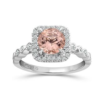 Emmy London 18ct White Gold Morganite & 0.20ct Diamond Ring - Product number 5170842