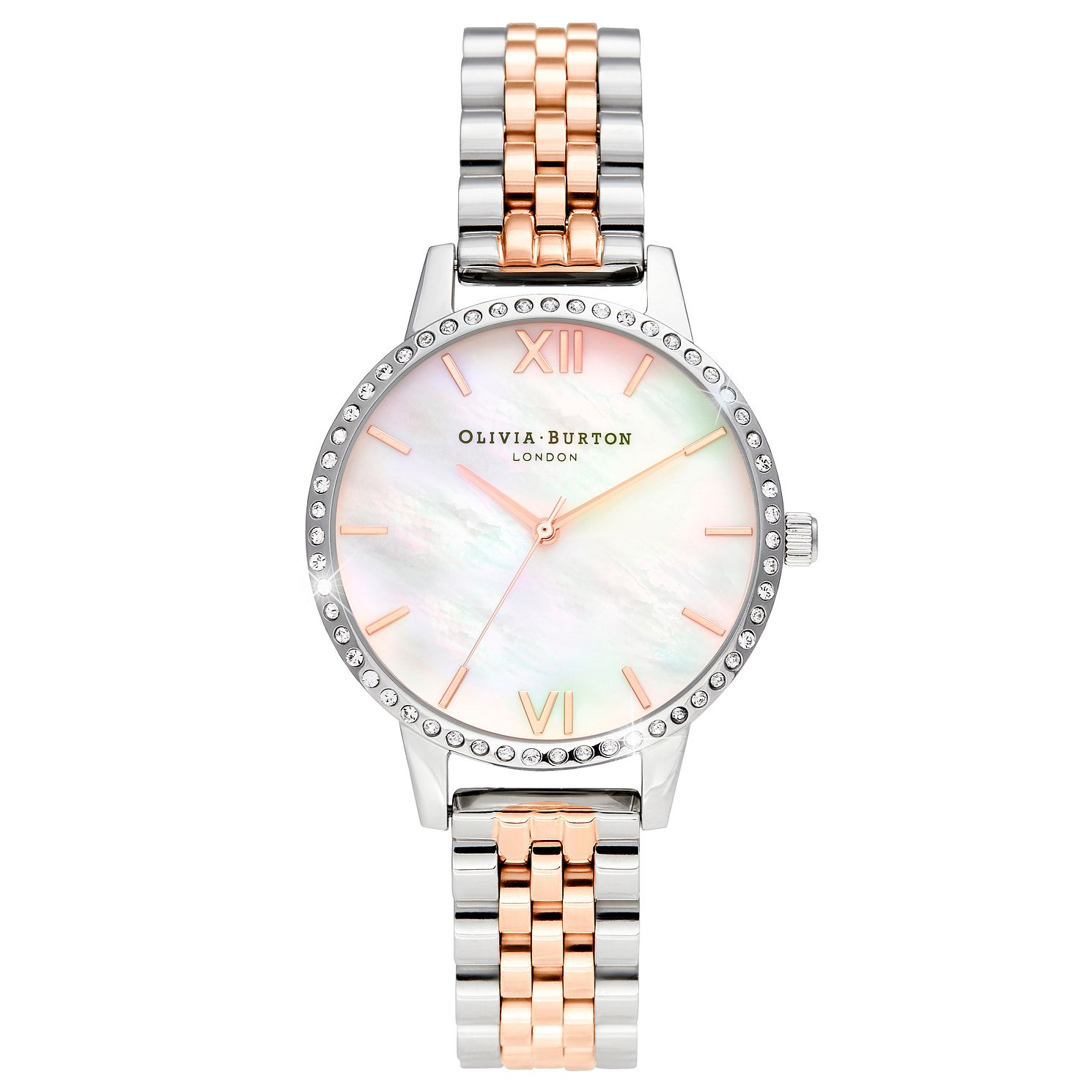 Olivia Burton Crystal Bezel Two Tone Bracelet Watch - Product number 5179327