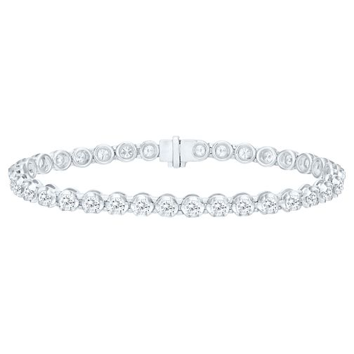 18ct White Gold 5ct Certified Diamond Bracelet - Product number 5180449