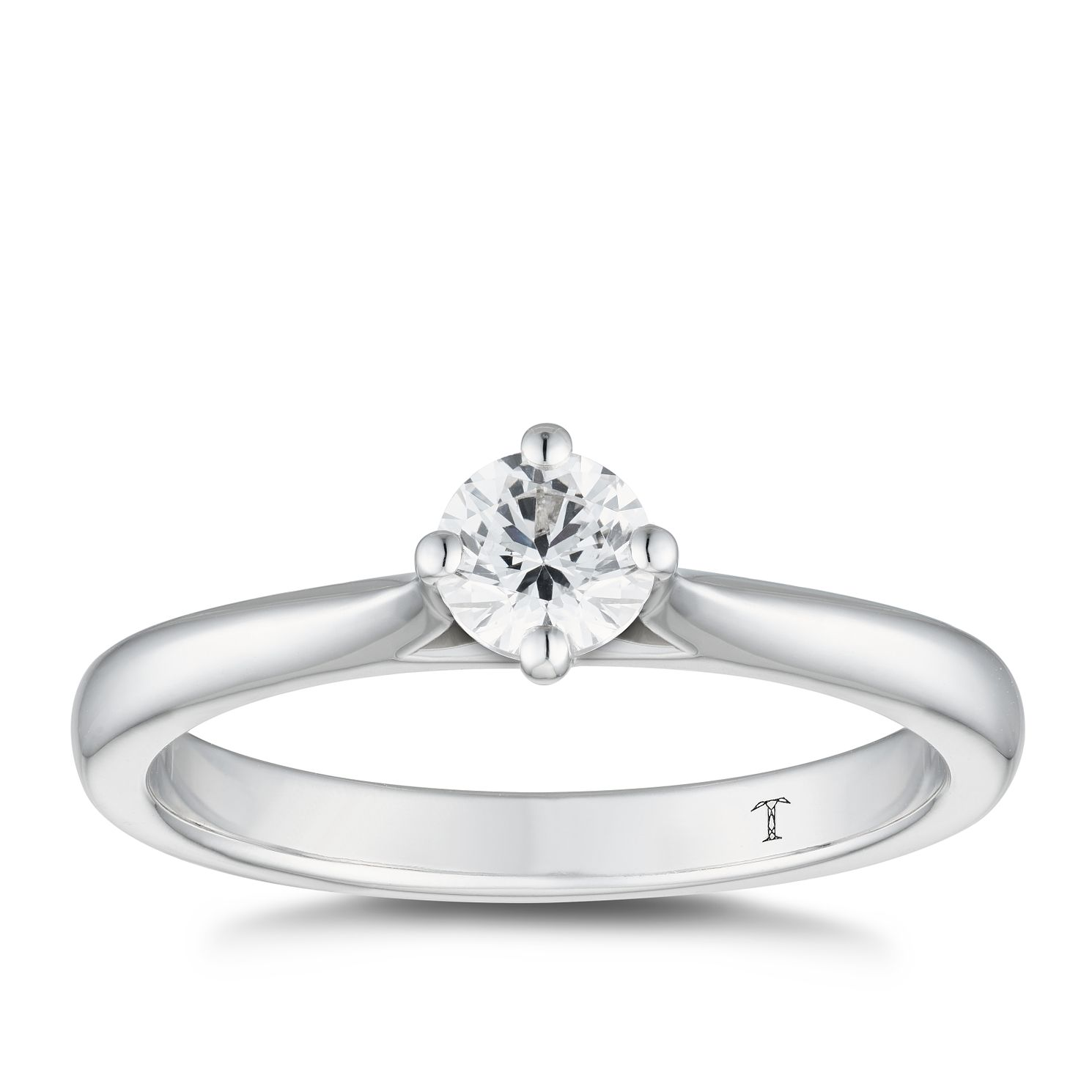 Tolkowsky 18ct White Gold 0.33ct Diamond Solitaire Ring - Product number 5181321