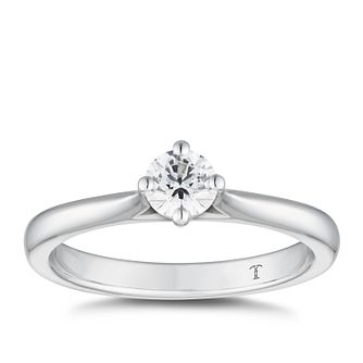 Tolkowsky 18ct White Gold 1/3ct Diamond Solitaire Ring - Product number 5181321