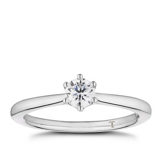 Tolkowsky 18ct White Gold 1/3ct Diamond Solitaire Ring - Product number 5186250