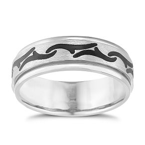 Titanium Black Patterned Spinner Ring - Product number 5187737