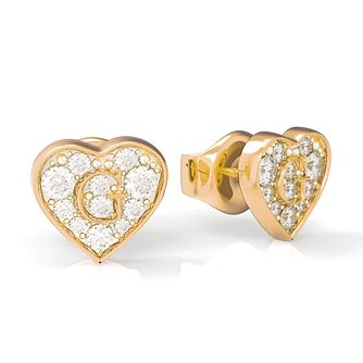 Guess G-Shine Gold Tone Swarovski Zirconia Earrings - Product number 5189853