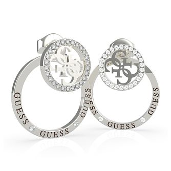 Guess Equilibre Silver Tone Swarovski Zirconia Earrings - Product number 5189926