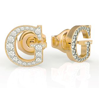 Guess Yellow Gold Swarovski Zirconia Stud Earrings - Product number 5189942