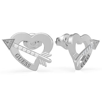 Guess Across My Heart Steel Swarovski Zirconia Earrings - Product number 5189950