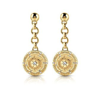 Guess Peony Gold Tone Swarovski Zirconia Drop Earrings - Product number 5190010