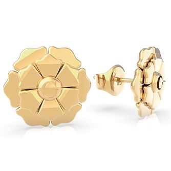 Guess Peony Yellow Gold Tone Stud Earrings - Product number 5190045