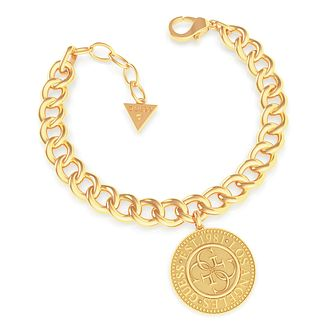 Guess Coin Yellow Gold Tone Chain Bracelet - Product number 5190061