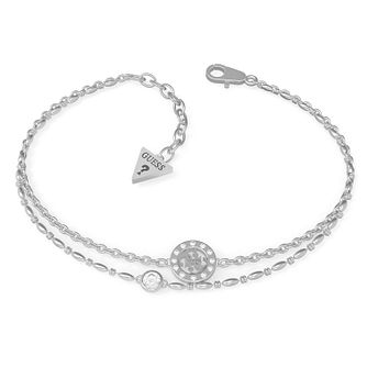 Guess Miniature Silver Tone Swarovski Zirconia Bracelet - Product number 5190088