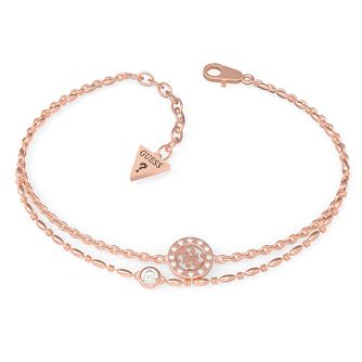 Guess Miniature Rose Gold Tone Swarovski Zirconia Bracelet - Product number 5190096