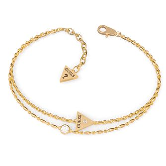 Guess Miniature Yellow Gold Tone Swarovski Zirconia Bracelet - Product number 5190118