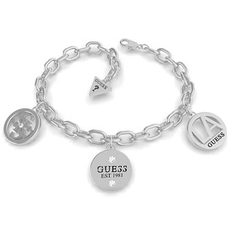 Guess LA Silver Tone Swarovski Zirconia Chain Bracelet - Product number 5190126