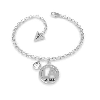 Guess LA Silver Tone Swarovski Zirconia Chain Bracelet - Product number 5190150