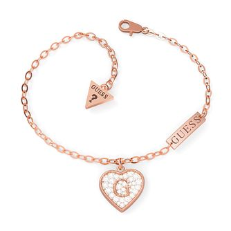 Guess G-Shine Rose Gold Tone Swarovski Zirconia Bracelet - Product number 5190185