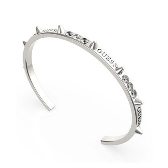 Guess Rebel Rebel Silver Tone Swarovski Zirconia Bangle - Product number 5190207