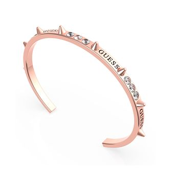 Guess Rebel Rebel Rose Gold Tone Swarovski Zirconia Bangle - Product number 5190223