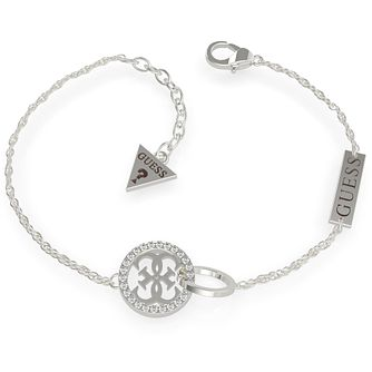 Guess Equilibre Silver Tone Swarovski Zirconia Bracelet - Product number 5190258