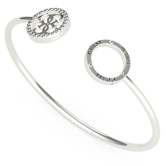 Guess Equilibre Silver Tone Swarovski Zirconia Bangle - Product number 5190274
