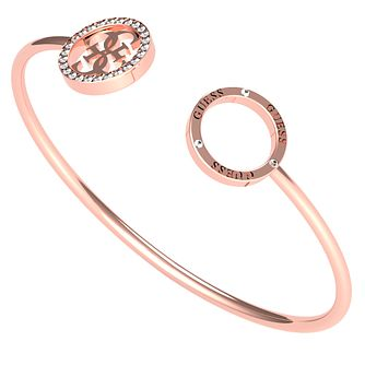 Guess Equilibre Rose Gold Tone Swarovski Zirconia Bangle - Product number 5190290