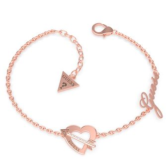 Guess Across My Heart Gold Tone Swarovski Zirconia Bracelet - Product number 5190312