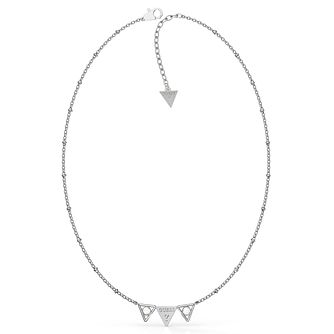 Guess Queen Of Heart Silver Tone Swarovski Zirconia Necklace - Product number 5190363