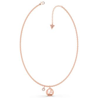 Guess LA Rose Gold Tone Swarovski Zirconia Necklace - Product number 5190428