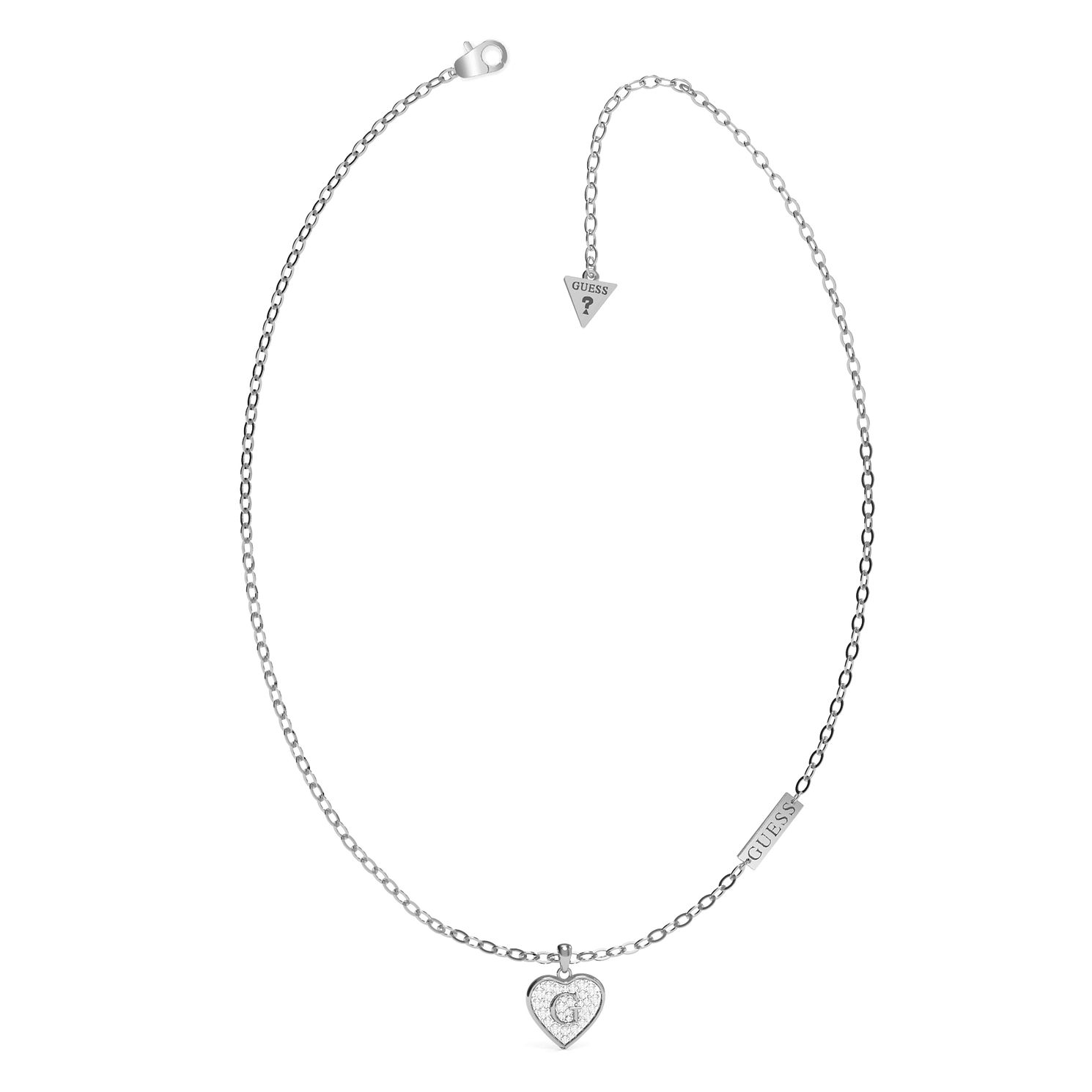 Guess G-Shine Silver Tone Swarovski Zirconia Necklace - Product number 5190436