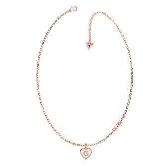 Guess G-Shine Rose Gold Tone Swarovski Zirconia Necklace - Product number 5190452
