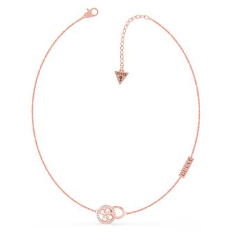 Guess Equilibre Rose Gold Tone Swarovski Zirconia Pendant - Product number 5190479