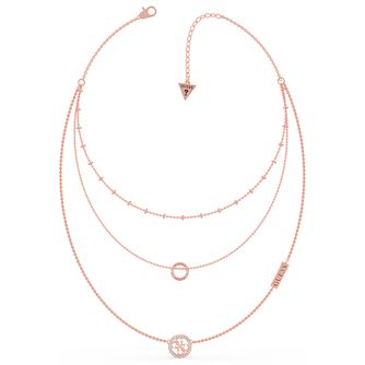 Guess Equilibre Rose Gold Tone Swarovski Zirconia Necklace - Product number 5190509