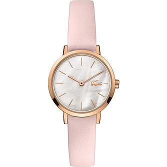 Lacoste Moon Ladies' Pink Leather Watchstrap - Product number 5190592