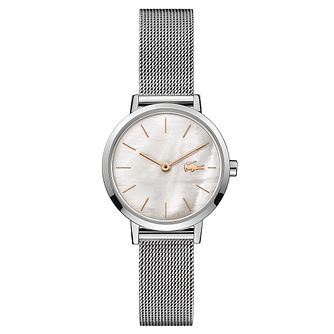 Lacoste Moon Ladies' Stainless Steel Mesh Bracelet Watch - Product number 5190606