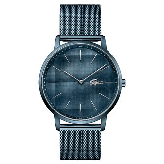 Lacoste Moon Men's Blue Ion Plated Mesh Bracelet Watch - Product number 5190649