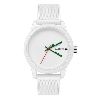Lacoste 12.12 Men's White Silicon Strap Watch - Product number 5190657
