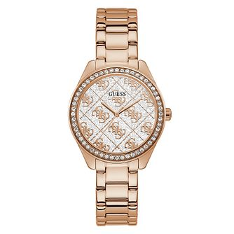 Guess Sugar Crystal Ladies' Rose Gold Tone Bracelet Watch - Product number 5190738