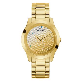 Guess Crush Crystal Ladies' Yellow Gold Tone Bracelet Watch - Product number 5190770