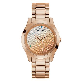Guess Crush Crystal Ladies' Rose Gold Tone Bracelet Watch - Product number 5190789