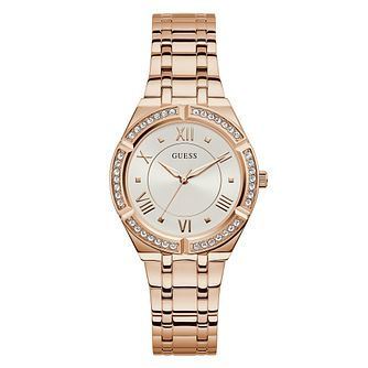 Guess Cosmo Crystal Ladies' Rose Gold Tone Bracelet Watch - Product number 5190851