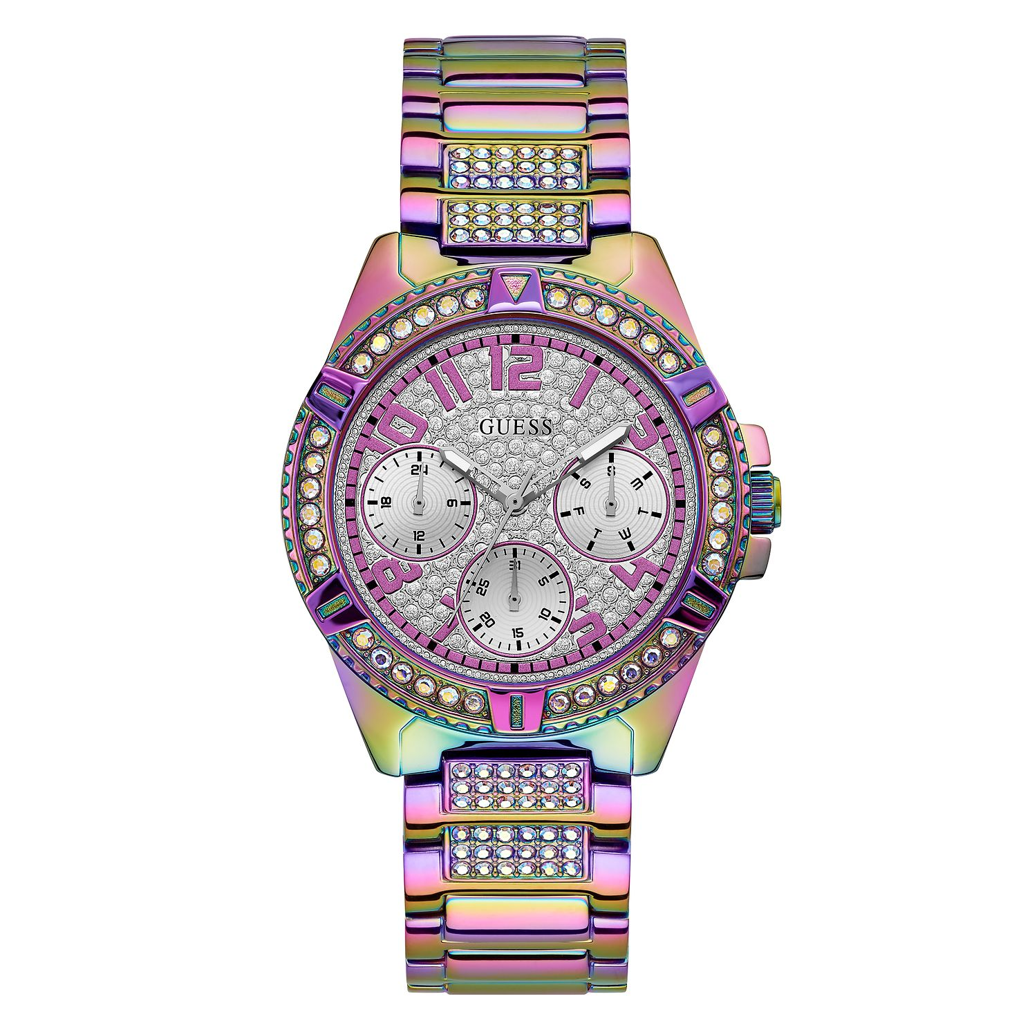 Guess Lady Frontier Crystal Iridescent Bracelet Watch - Product number 5190991