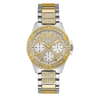 Guess Lady Frontier Crystal Two Tone Bracelet Watch - Product number 5191025
