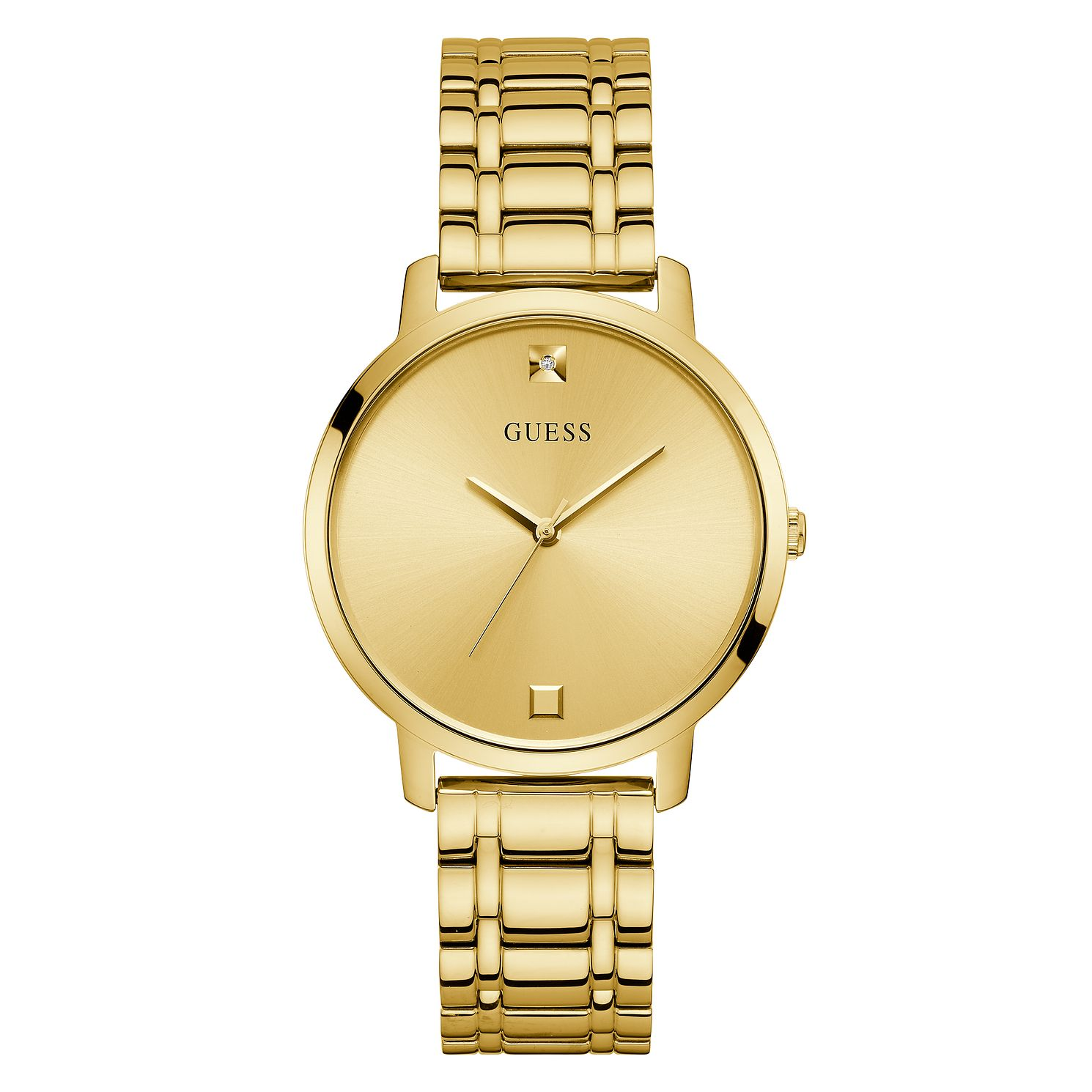 Guess Nova Crystal Ladies' Yellow Gold Tone Bracelet Watch - Product number 5191106