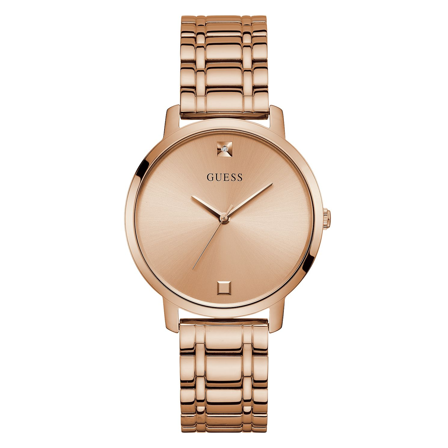 Guess Nova Crystal Ladies' Rose Gold Tone Bracelet Watch - Product number 5191114