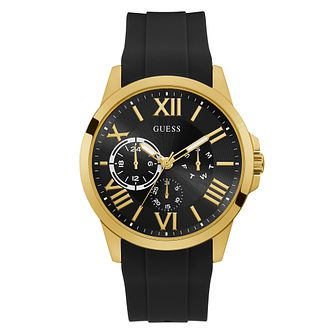 Guess Orbit Men's Black Silicone Strap Watch - Product number 5191130