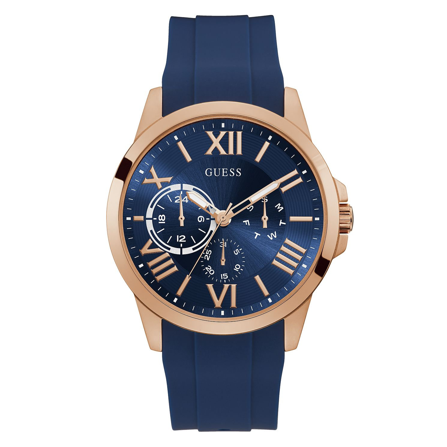 Guess Orbit Men's Blue Silicone Strap Watch - Product number 5191157