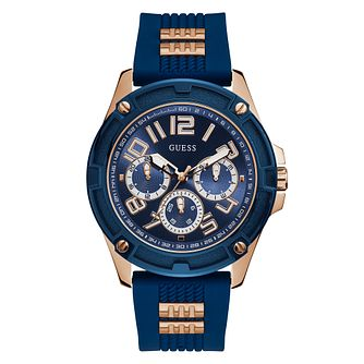 Guess Delta Men's Blue Silicone Strap Watch - Product number 5191181