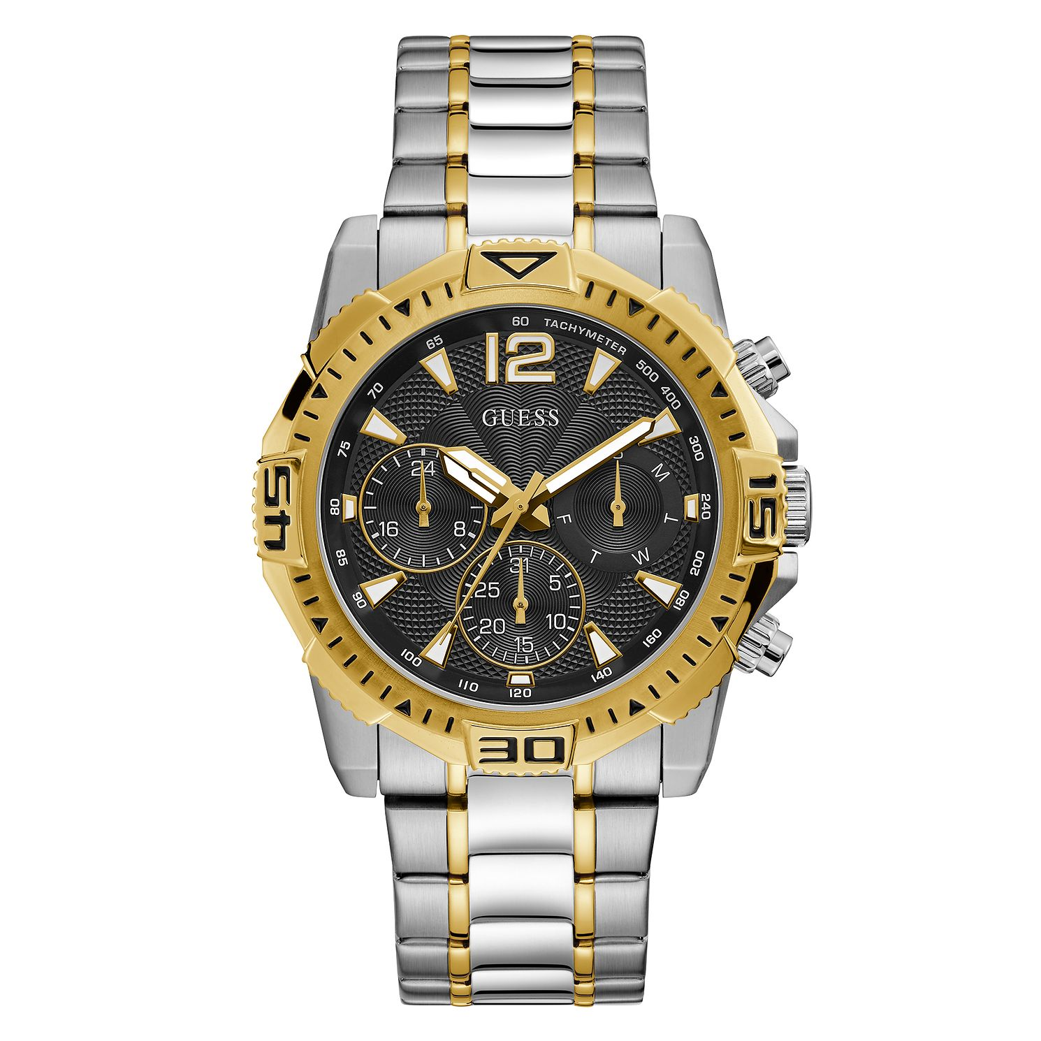 Guess Commander Men's Two Tone Bracelet Watch - Product number 5191211