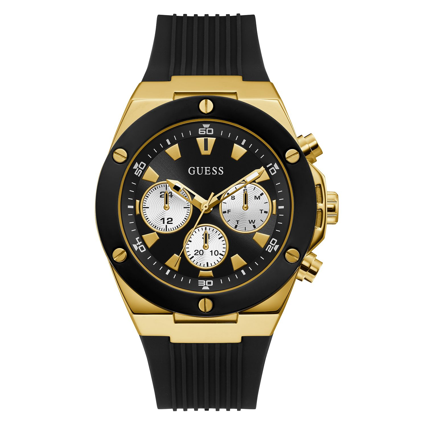 Guess Poseidon Men's Black Silicone Strap Watch - Product number 5191238
